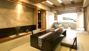 露天風呂付 (温泉) 和室 (和室12畳+土間リビング+土間バルコニー)