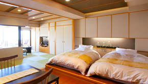With outdoor bath (SPA) Japanese and Western-style guest room (Japanese-style room 13.22sq meter + twin bed)