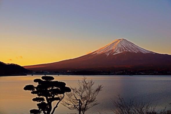 ワインを飲んだ富士山