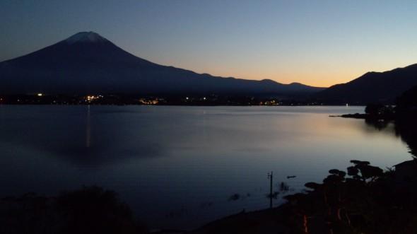 一緒に見た富士山