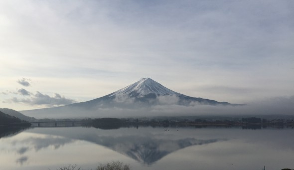 クリスマス逆さ富士