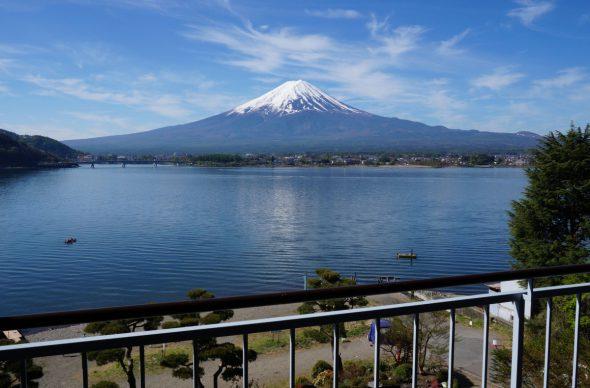 Fuji over the porch