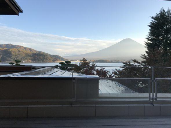 足浴和富士山