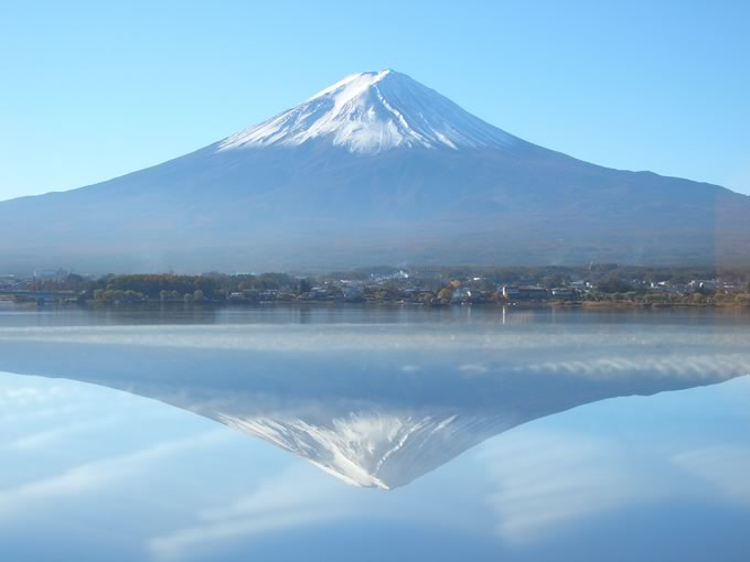 発見!逆さ富士
