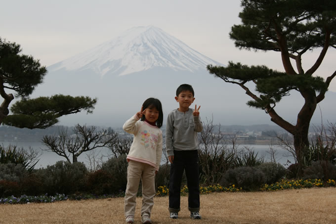 子供と富士山