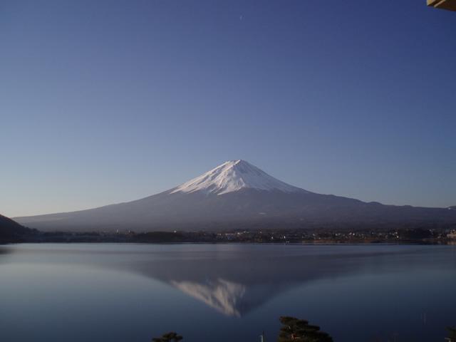 初めての逆さ富士