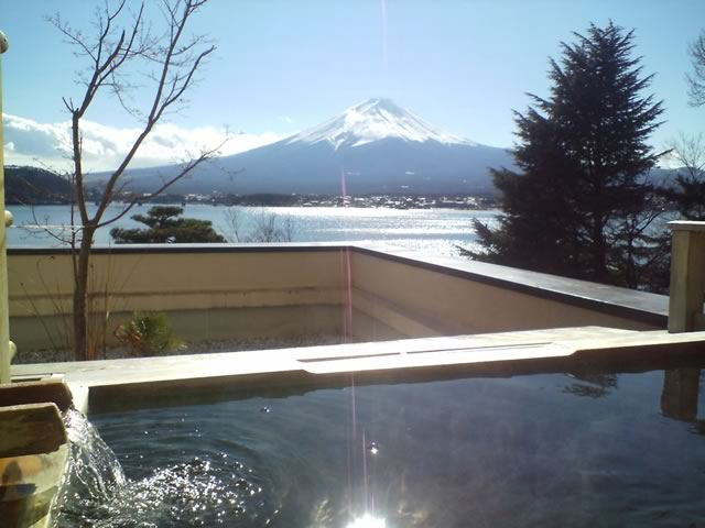 富士山と温泉を独り占め!