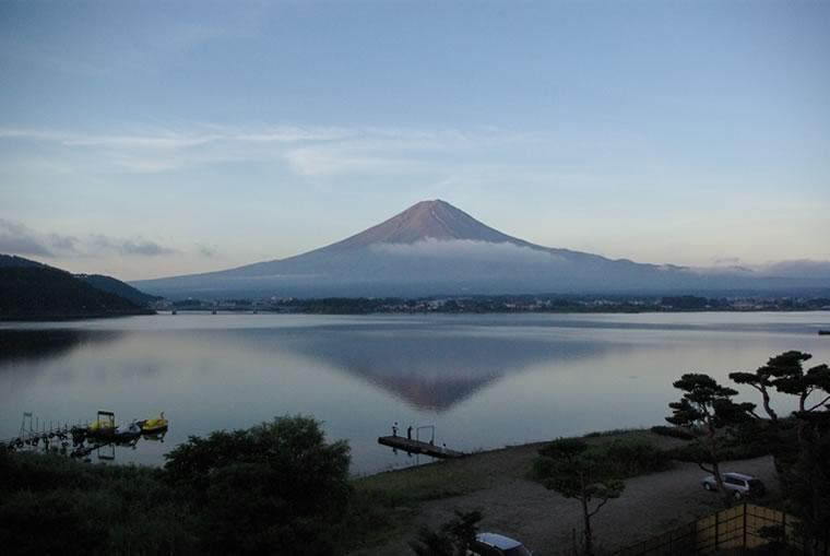 登山後の癒し富士