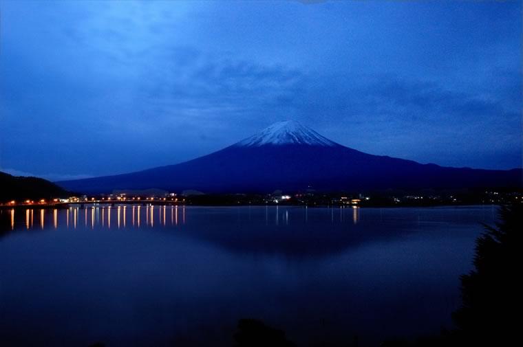 束の間の富士