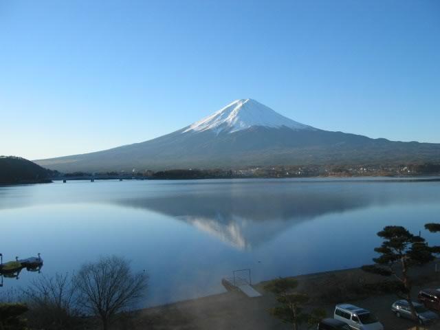 新年の逆さ富士