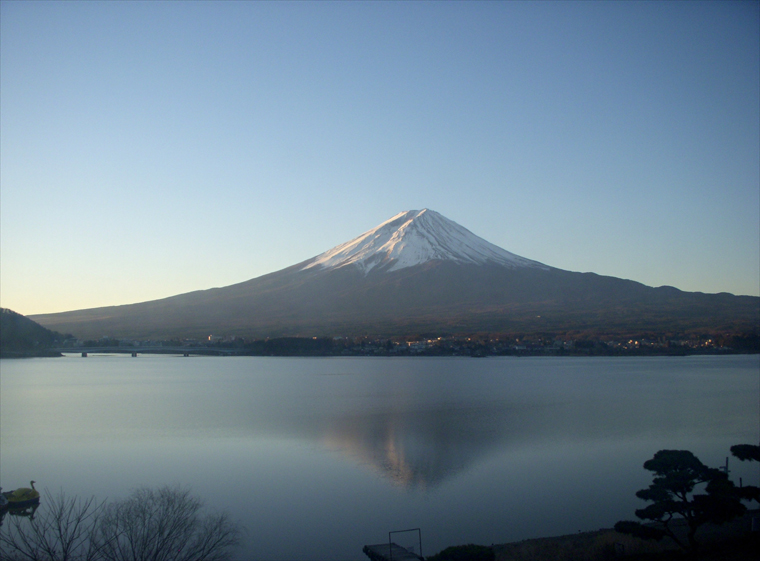 新春の逆さ富士