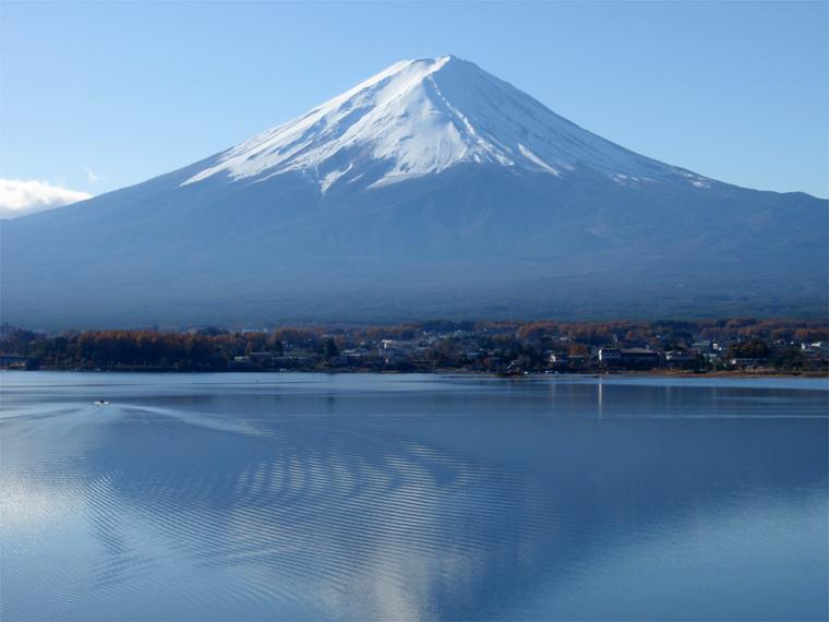 波紋上の富士