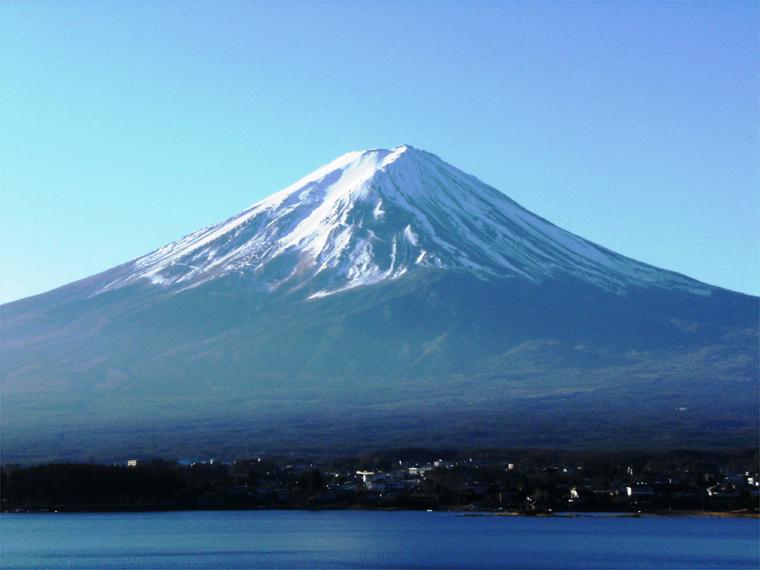 朝、富士が見えた!