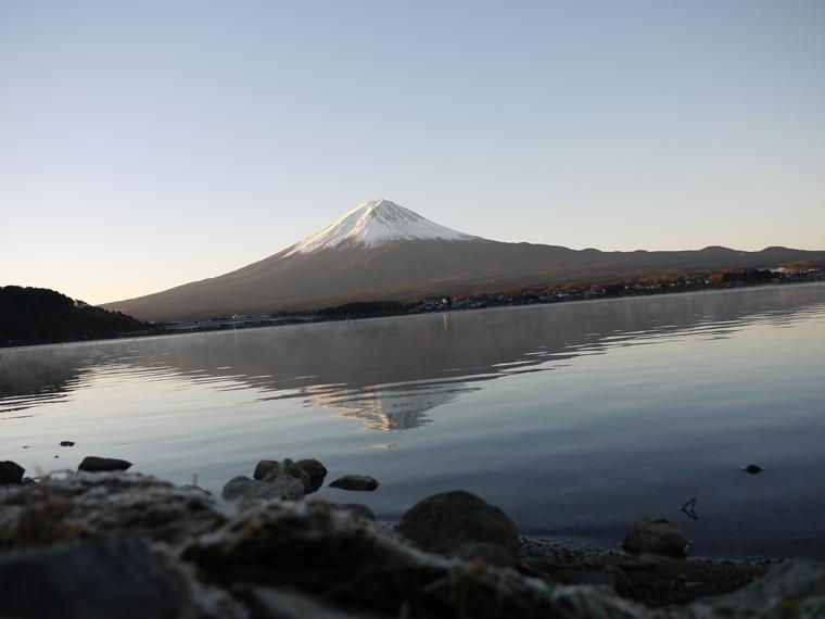 富士山、雪・霜・霧と紅葉