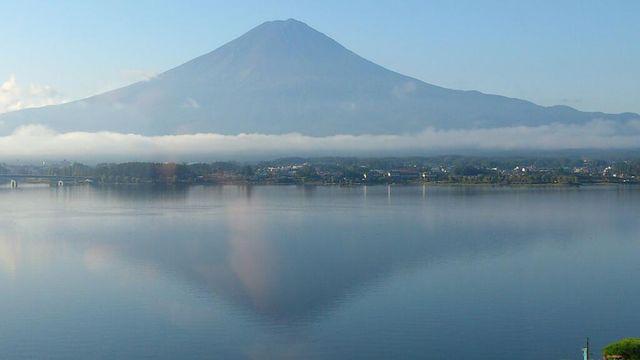 Inverted image of Mt.Fuji