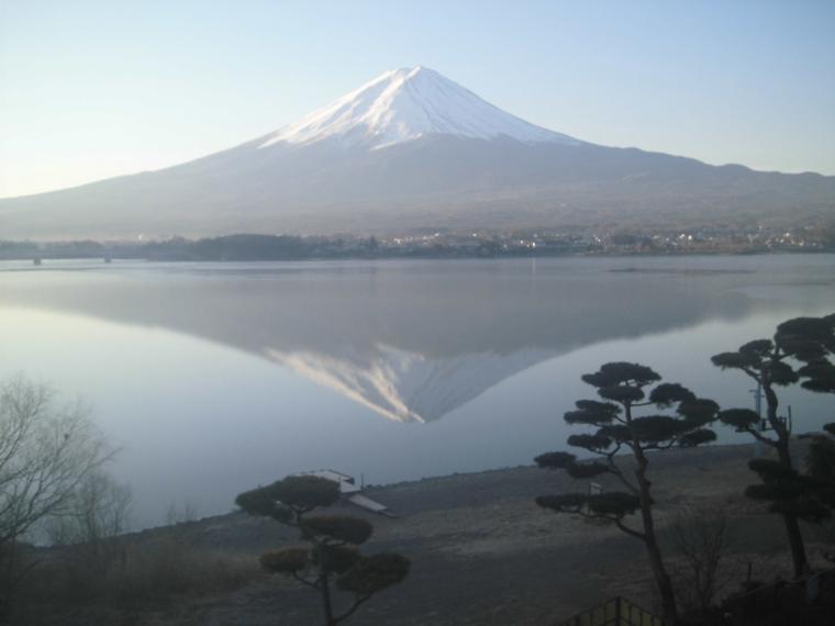 冬天的逆富士