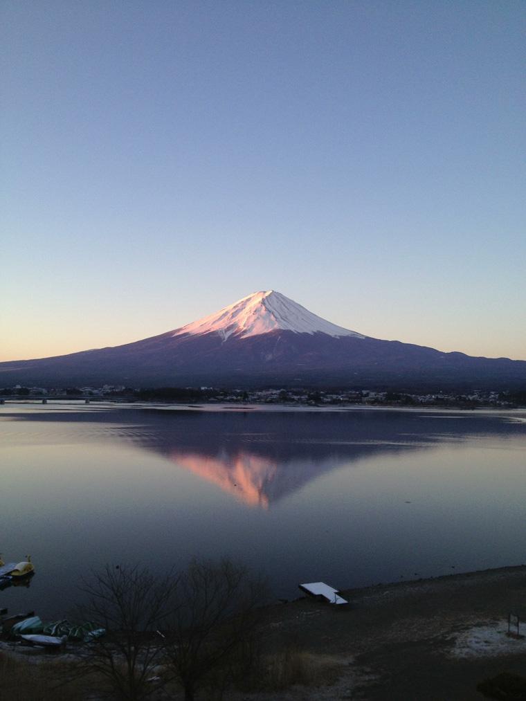 初めての逆さ富士撮影
